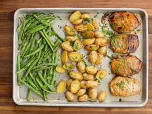 Sheet Pan Pork Chops - Time for Fall!
